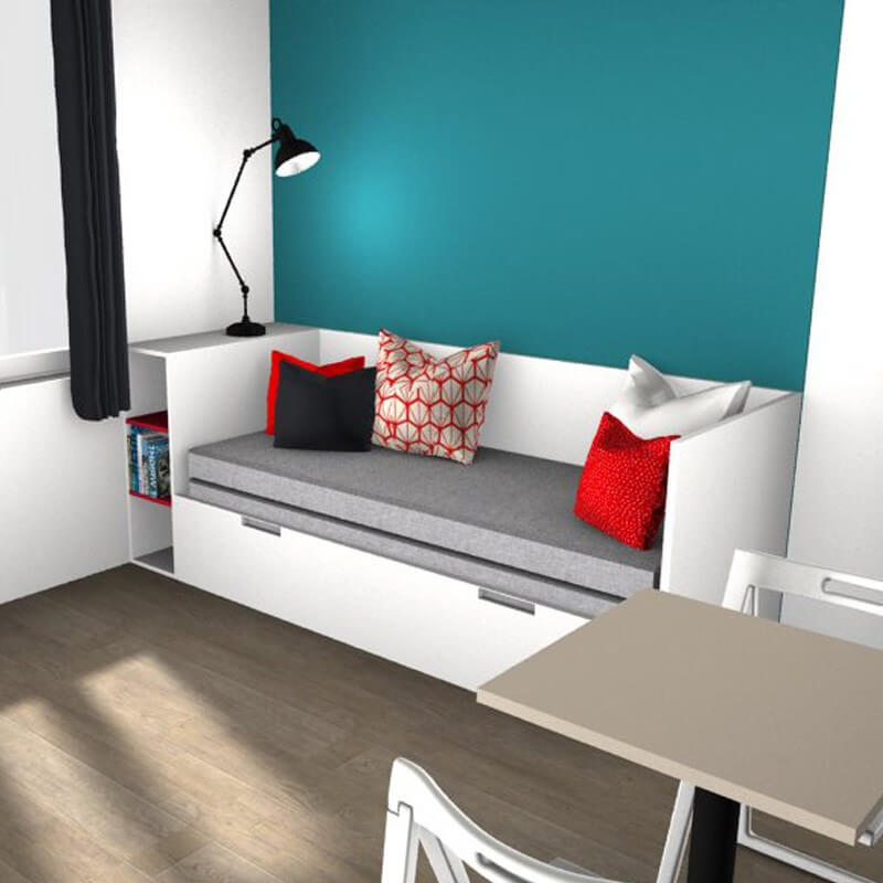 lit gigogne camille t te de lit lit gigogne et chevet. Black Bedroom Furniture Sets. Home Design Ideas