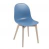Chaise ACADEMY CB/1665 Calligaris bleu
