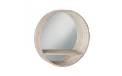 Miroir WOOD avec tablette