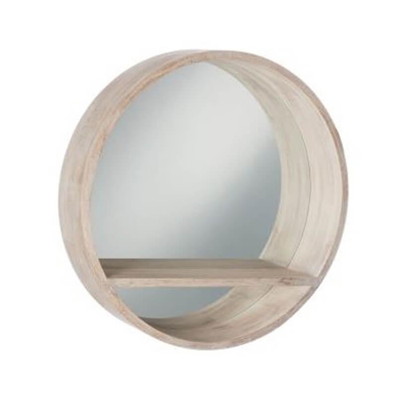 miroir wood avec tablette miroir. Black Bedroom Furniture Sets. Home Design Ideas