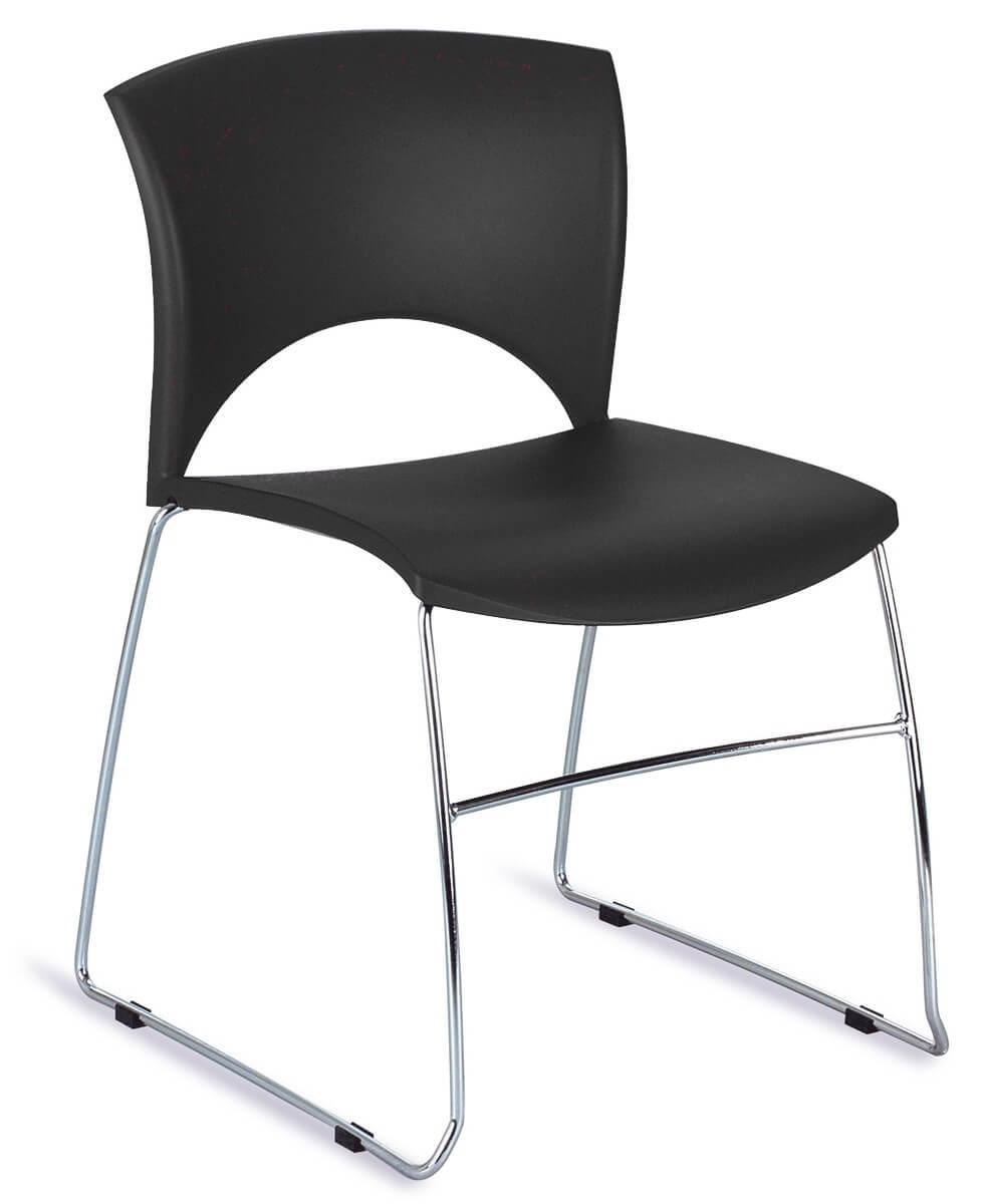 Chaise Séminaire De Empilable Et NoireSalle RéunionLola qVzpLMUGS