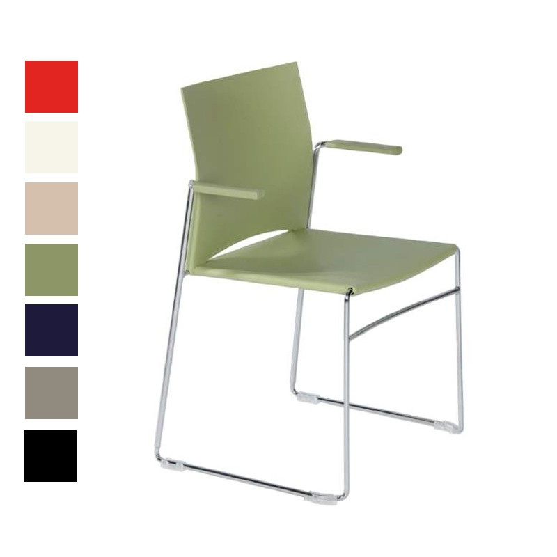chaise lino avec accoudoir chaise empilable pour salle. Black Bedroom Furniture Sets. Home Design Ideas