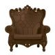 Fauteuil Queen of Love marron (Slide Design)