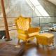 Fauteuil Queen of Love jaune (Slide Design)