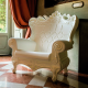 Fauteuil Queen of Love white (Slide Design)