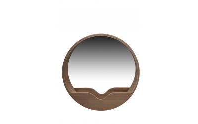 Miroir ROUND WALL bois Zuiver