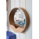 Miroir ROUND WALL bois Zuiver
