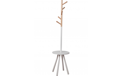 COAT RACK TABLE TREE WHITE