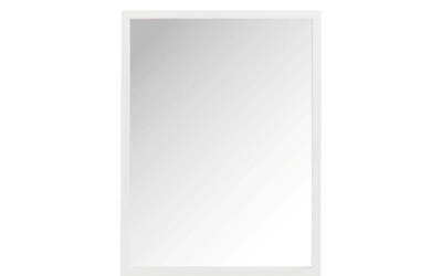 Miroir rectangle bois blanc
