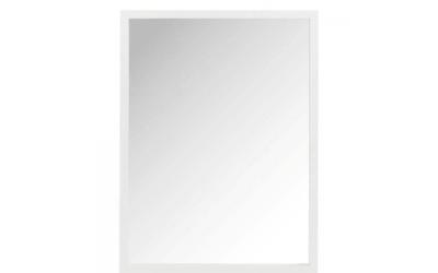 Miroir rectangle bois blanc