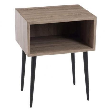 Table gigogne carrée en bois naturel