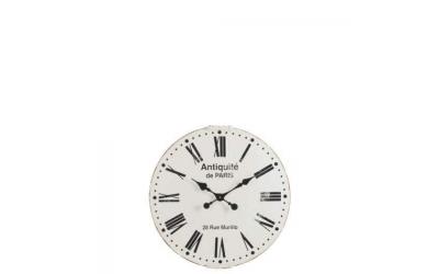 Horloge Antiquité de Paris en métal noir et blanc