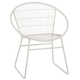 Chaise en métal blanc