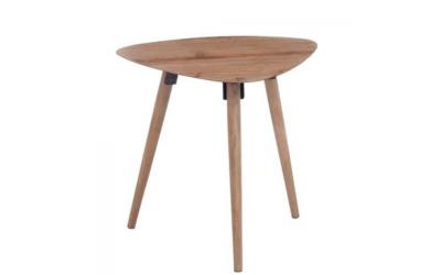 Table gigogne triangle en métal et en bois naturel