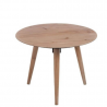 Table gigogne ronde en métal et en bois naturel