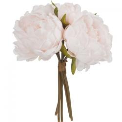 Bouquet de cinq pivoines rose clair