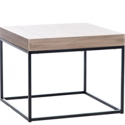 Table gigogne carré en bois et en métal