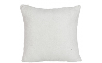 Coussin sequins polyester blanc