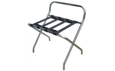 rack à bagage dosseret métal chromé