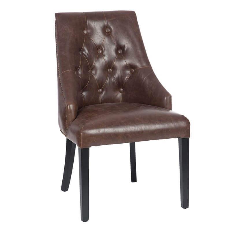 chaise marron richard chaises et fauteuils. Black Bedroom Furniture Sets. Home Design Ideas