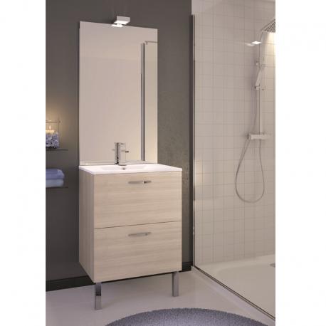 Grand miroir mural cr dence salle de bain baltys for Meuble credence